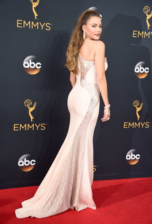 <div class='meta'><div class='origin-logo' data-origin='AP'></div><span class='caption-text' data-credit='Phil McCarten/Invision/AP'>Sof??a Vergara arrives at the 68th Primetime Emmy Awards on Sunday, Sept. 18, 2016, at the Microsoft Theater in Los Angeles.</span></div>
