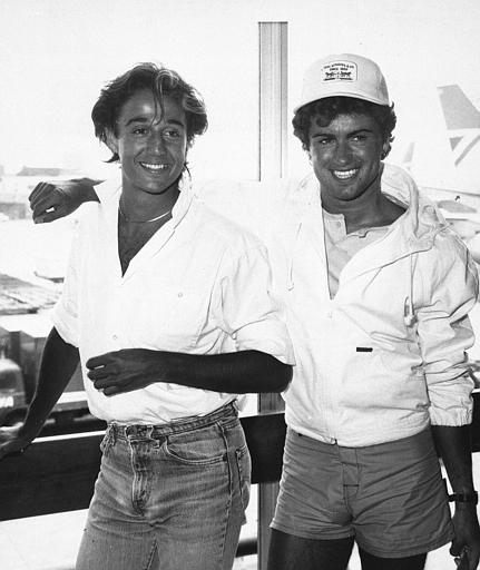 "<div class=""meta image-caption""><div class=""origin-logo origin-image ap""><span>AP</span></div><span class=""caption-text"">Sporting Caribbean tans, the pop duo Wham!, Andrew Ridgely, left, and George Michael appear at Heathrow Airport, London, after flying in from Miami, May 1, 1984. (AP Photo/Press Association)</span></div>"