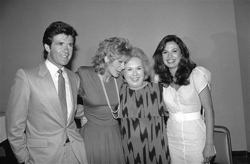 "<div class=""meta image-caption""><div class=""origin-logo origin-image ap""><span>AP</span></div><span class=""caption-text"">Doris Roberts, of NBC's ""Remington Steele"" television show, second from right, is flanked by Judith Light, second from left, Ana Alicia, right, and Alan Thicke, left, Aug. 5, 1985. (AP Photo/Wally Fong)</span></div>"