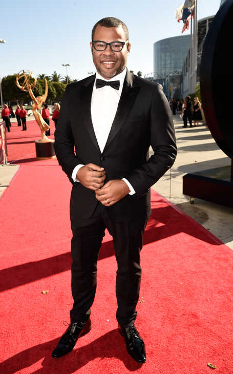 <div class='meta'><div class='origin-logo' data-origin='AP'></div><span class='caption-text' data-credit='Dan Steinberg/Invision/AP'>EXCLUSIVE - Jordan Peele arrives at the 68th Primetime Emmy Awards on Sunday, Sept. 18, 2016, at the Microsoft Theater in Los Angeles.</span></div>