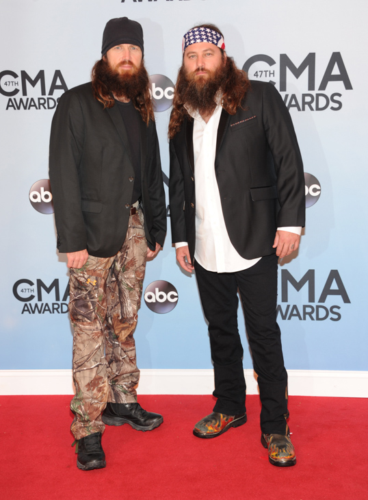 "<div class=""meta image-caption""><div class=""origin-logo origin-image none""><span>none</span></div><span class=""caption-text"">Willie Robertson, right, and Jase Robertson, of Duck Dynasty, arrive at the 47th annual CMA Awards at Bridgestone Arena on Wednesday, Nov. 6, 2013, in Nashville, Tenn. (Evan Agostini/Invision/AP)</span></div>"