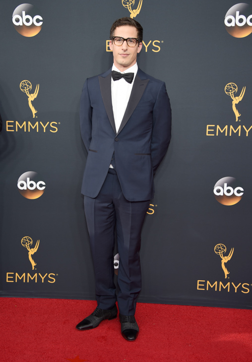 <div class='meta'><div class='origin-logo' data-origin='AP'></div><span class='caption-text' data-credit='Phil McCarten/Invision/AP'>Andy Samburg arrives at the 68th Primetime Emmy Awards on Sunday, Sept. 18, 2016, at the Microsoft Theater in Los Angeles.</span></div>