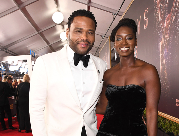 <div class='meta'><div class='origin-logo' data-origin='Creative Content'></div><span class='caption-text' data-credit='Charles Sykes/AP'>Anthony Anderson, left, and Alvina Stewart arrive at the 69th Primetime Emmy Awards</span></div>