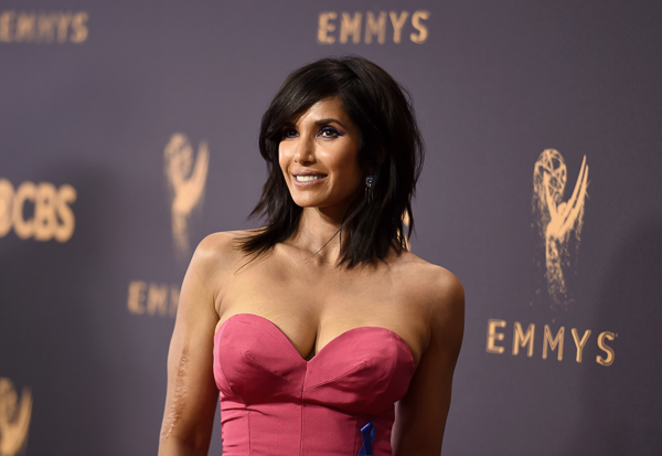"<div class=""meta image-caption""><div class=""origin-logo origin-image wtvd""><span>wtvd</span></div><span class=""caption-text"">Padma Lakshmi arrives at the 69th Primetime Emmy Awards. (Richard Shotwell/Invision/AP)</span></div>"