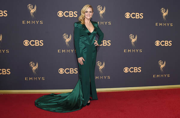 "<div class=""meta image-caption""><div class=""origin-logo origin-image wpvi""><span>wpvi</span></div><span class=""caption-text"">Samantha Bee arrives at the 69th Primetime Emmy Awards (Jordan Strauss/Invision/AP)</span></div>"