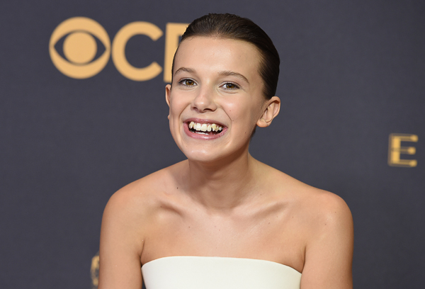 "<div class=""meta image-caption""><div class=""origin-logo origin-image wpvi""><span>wpvi</span></div><span class=""caption-text"">Millie Bobby Brown arrives at the 69th Primetime Emmy Awards. (Jordan Strauss/Invision/AP)</span></div>"