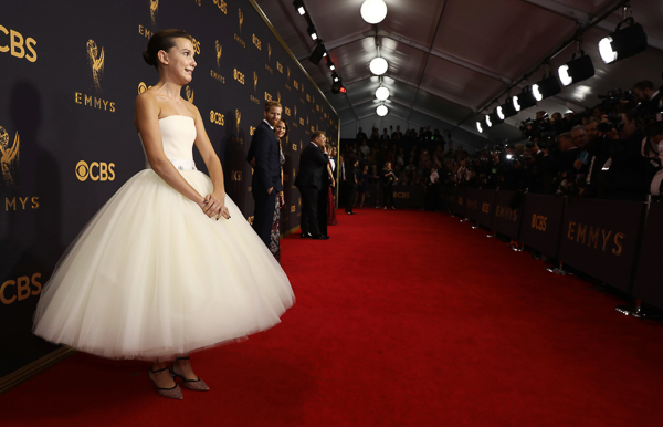 <div class='meta'><div class='origin-logo' data-origin='none'></div><span class='caption-text' data-credit='Matt Sayles/AP Photo'>Millie Bobby Brown attends the 69th Primetime Emmy Awards</span></div>