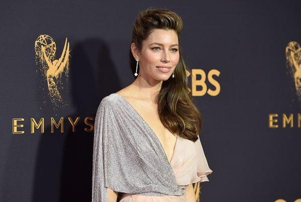"<div class=""meta image-caption""><div class=""origin-logo origin-image wpvi""><span>wpvi</span></div><span class=""caption-text"">Jessica Biel arrives at the 69th Primetime Emmy Awards (Richard Shotwell/Invision/AP)</span></div>"