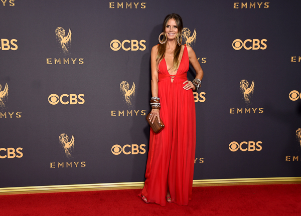 "<div class=""meta image-caption""><div class=""origin-logo origin-image wpvi""><span>wpvi</span></div><span class=""caption-text"">Heidi Klum arrives at the 69th Primetime Emmy Awards. (Richard Shotwell/Invision/AP)</span></div>"