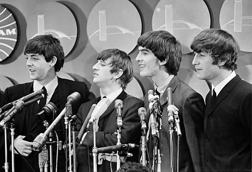 The Beatles meet reporters at Kennedy Airport in New York City, Feb. 7, 1964 on their arrival from London for their first American tour. <span class=meta>AP Photo</span>