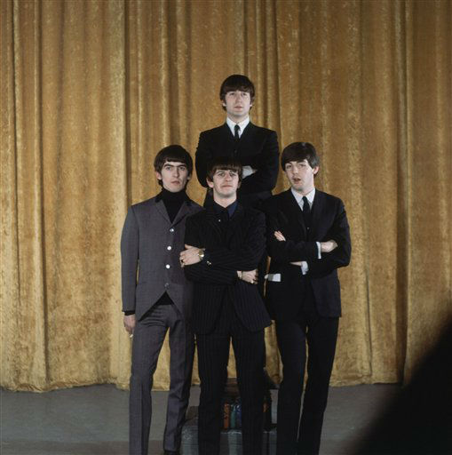 "The Beatles are shown on the set of the ""Ed Sullivan Show"" in New York, Feb. 10, 1964. <span class=meta>AP Photo</span>"