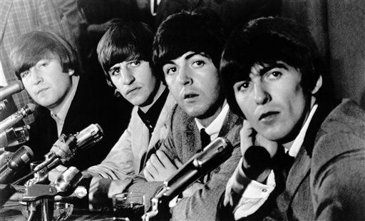 The Beatles face the press at Delmonico?s Hotel on Aug. 29, 1964. <span class=meta>AP Photo</span>
