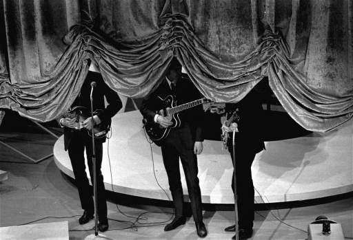 The curtain rises on the British singing group The Beatles, September 16, 1964, at a charity show in New York City. <span class=meta>AP Photo</span>