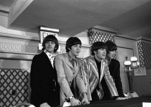 The Beatles are shown at a press conference that they held at the Warwick Hotel in New York City, Aug. 22, 1966. <span class=meta>AP Photo</span>