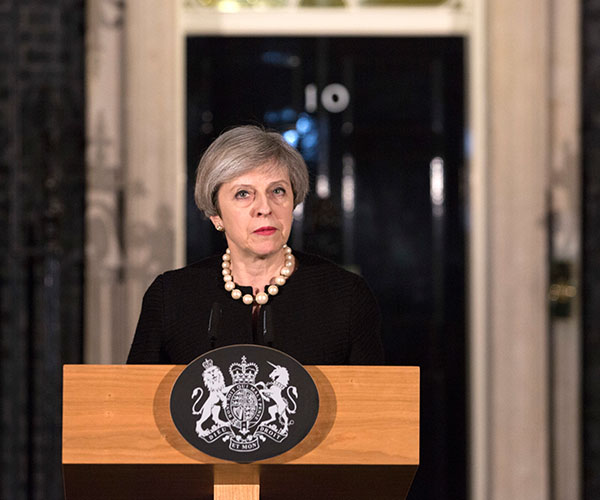 "<div class=""meta image-caption""><div class=""origin-logo origin-image kabc""><span>kabc</span></div><span class=""caption-text"">Prime Minister Theresa May gives a statement in following the terrorist attack in Westminster. (Richard Pohle/AP)</span></div>"