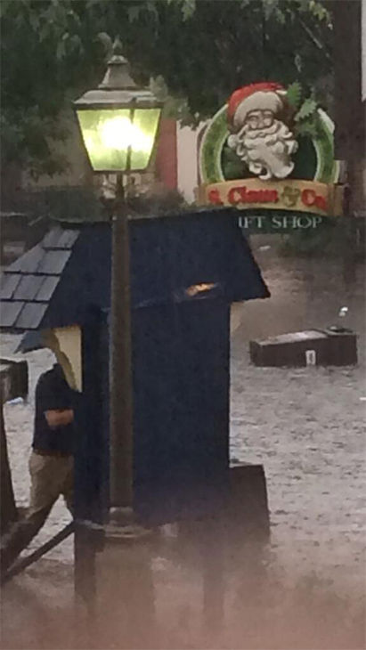More flooding in Hersheypark. <span class=meta>(CallmeKuhn51 &#47; Twitter)</span>