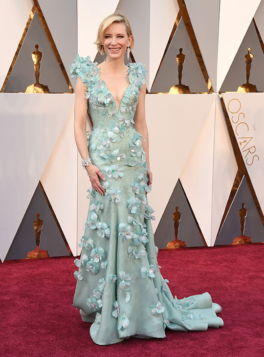 <div class='meta'><div class='origin-logo' data-origin='AP'></div><span class='caption-text' data-credit='Jordan Strauss/Invision/AP'>Cate Blanchett arrives at the Oscars on Sunday, Feb. 28, 2016, at the Dolby Theatre in Los Angeles.</span></div>
