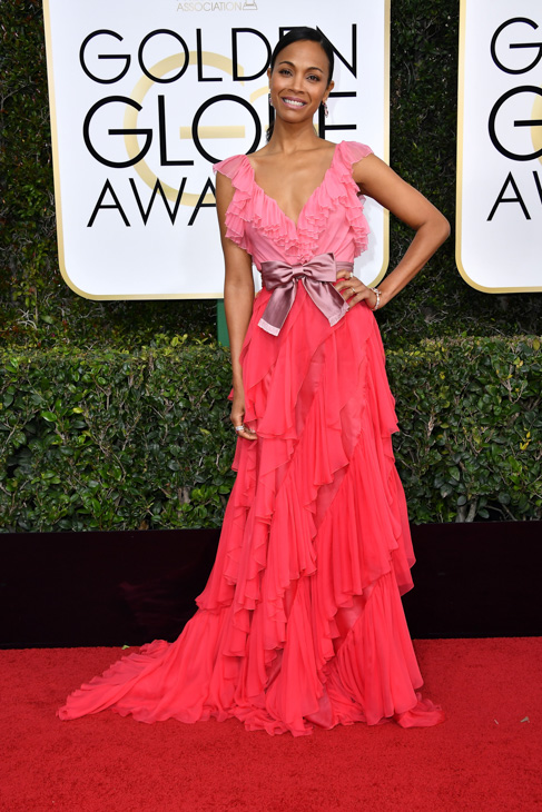 <div class='meta'><div class='origin-logo' data-origin='none'></div><span class='caption-text' data-credit='Steve Granitz/Getty Images'>Actress Zoe Saldana attends the 74th Annual Golden Globe Awards at The Beverly Hilton Hotel on January 8, 2017 in Beverly Hills, California.</span></div>