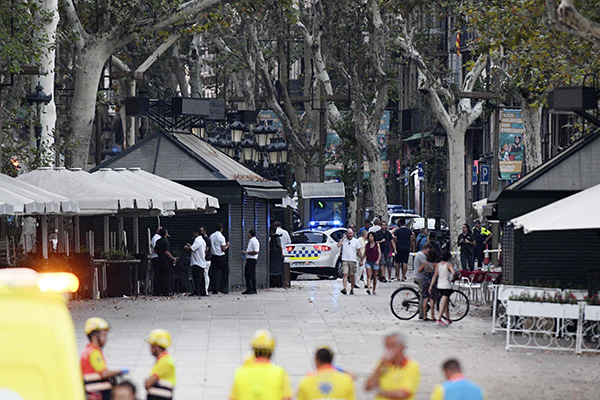 "<div class=""meta image-caption""><div class=""origin-logo origin-image none""><span>none</span></div><span class=""caption-text"">A general view of the scene of a terrorist attack in the Las Ramblas area on August 17, 2017 in Barcelona, Spain (David Ramos/Getty Images))</span></div>"