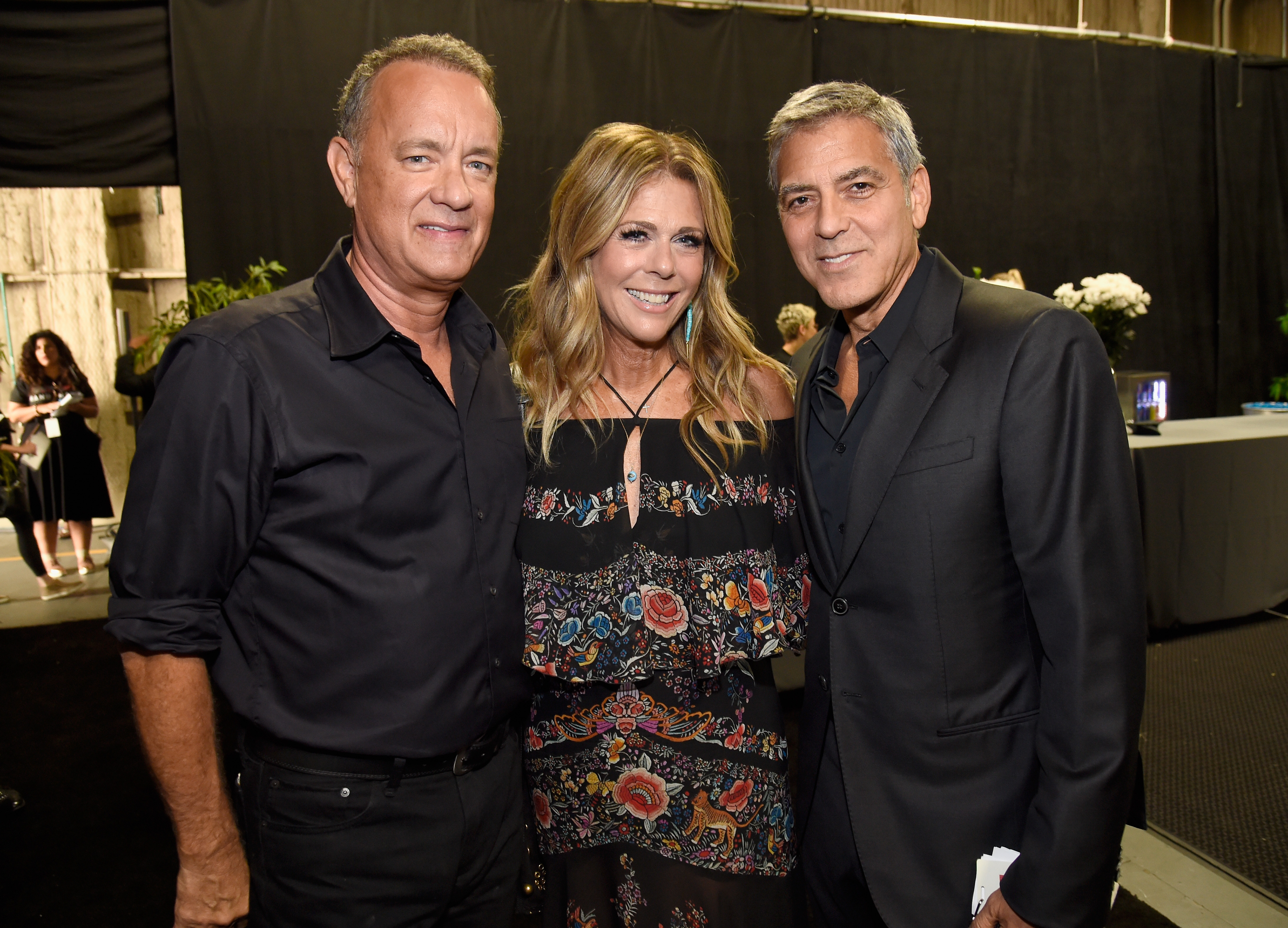 "<div class=""meta image-caption""><div class=""origin-logo origin-image none""><span>none</span></div><span class=""caption-text"">Tom Hanks, Rita Wilson and George Clooney attend Hand in Hand: A Benefit for Hurricane Relief at Universal Studios AMC on September 12, 2017 in Universal City, California. (Kevin Mazur/Hand in Hand/Getty Images)</span></div>"