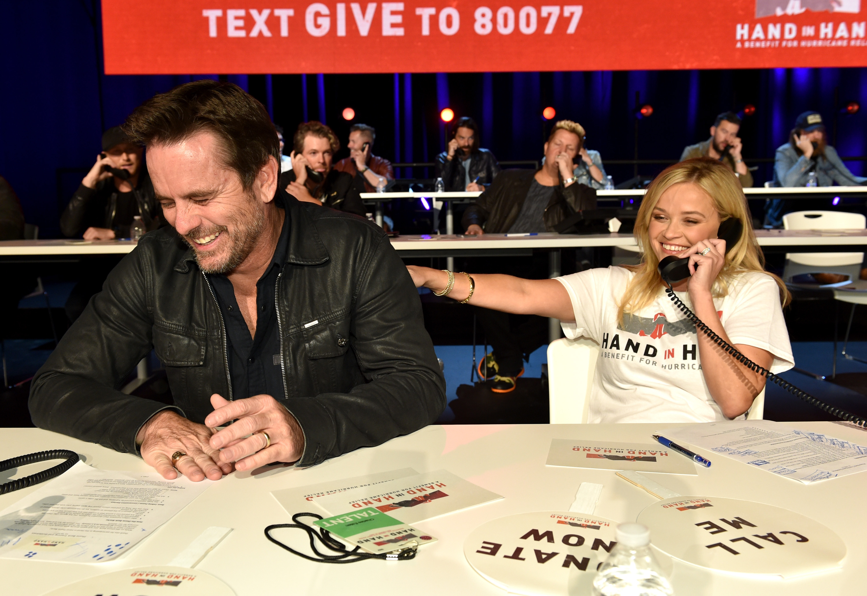 "<div class=""meta image-caption""><div class=""origin-logo origin-image none""><span>none</span></div><span class=""caption-text"">Charles Esten and Reese Witherspoon attend Hand in Hand: A Benefit for Hurricane Relief at the Grand Ole Opry House on September 12, 2017 in Nashville, Tennessee. (John Shearer/Hand in Hand/Getty Images)</span></div>"