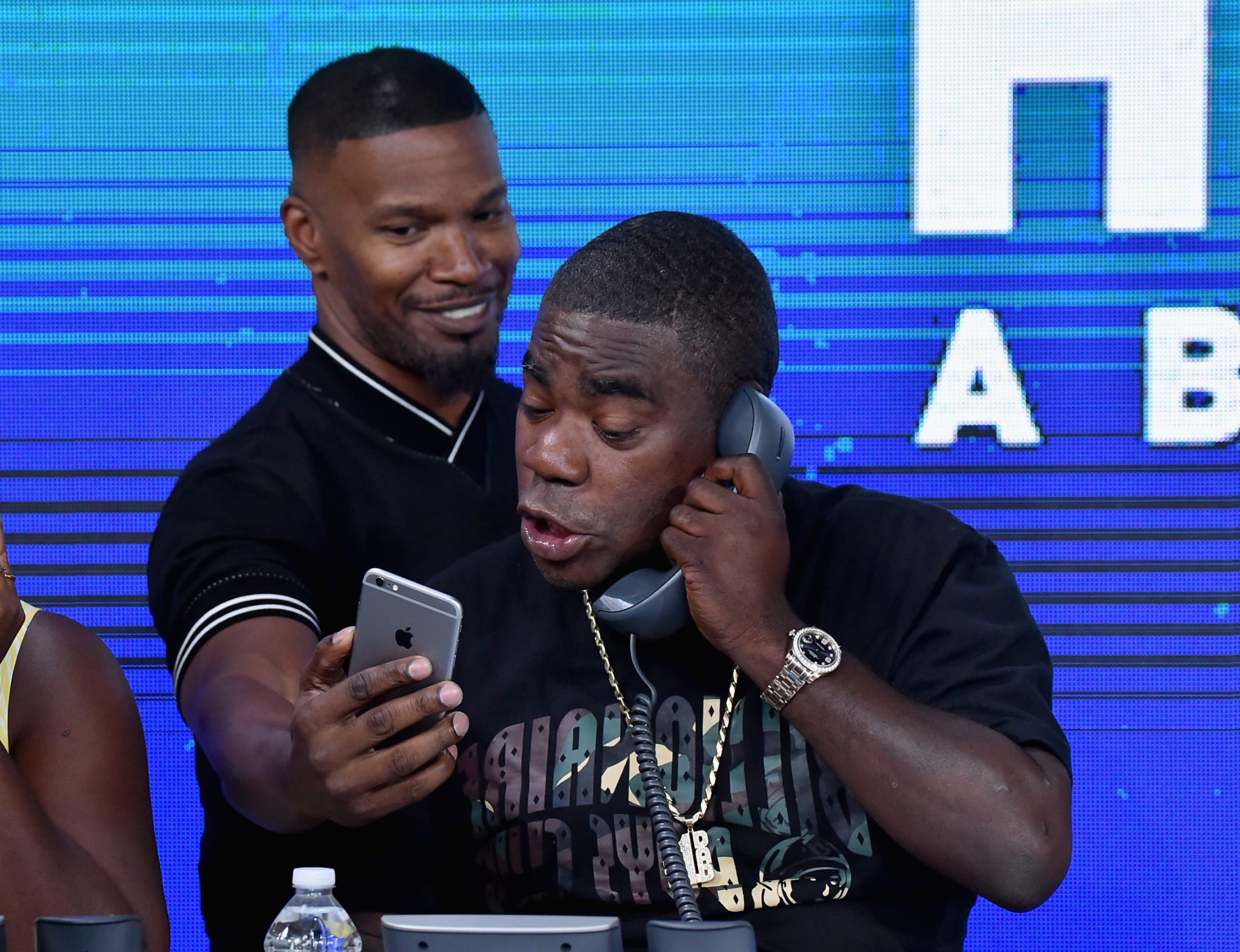 "<div class=""meta image-caption""><div class=""origin-logo origin-image none""><span>none</span></div><span class=""caption-text"">Jamie Foxx and Tracy Morgan attend the Hand in Hand benefit at ABC News' Good Morning America Times Square Studio in New York. (Theo Wargo/Hand in Hand/Getty Images)</span></div>"