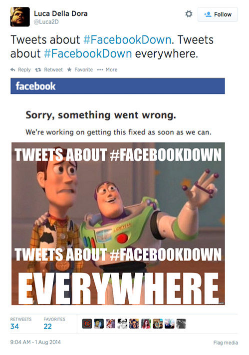 "<div class=""meta ""><span class=""caption-text "">When Facebook goes down, Twitter reacts (Luca2d / Twitter)</span></div>"