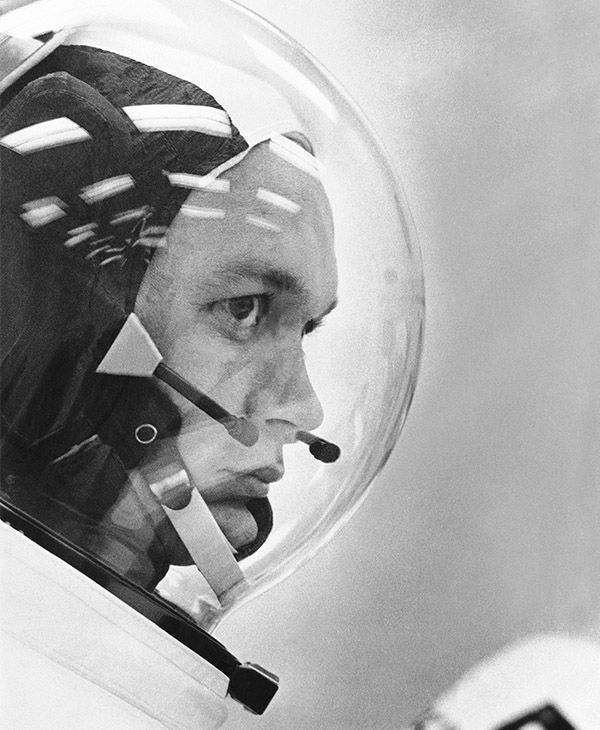 Image of Michael Collins, the third astronaut in the Apollo 11 image. <span class=meta></span>