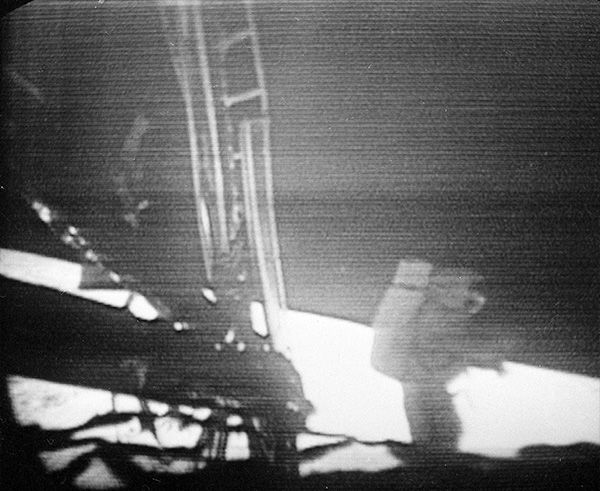 Broadcast footage of the moon landing. <span class=meta>AP</span>