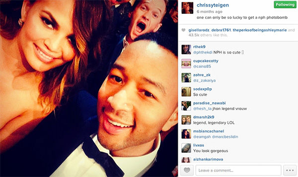 Neil Patrick Harris photobombs Chrissy Teigan and John Legend. <span class=meta>(chrissyteigen &#47; Instagram)</span>