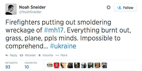 Moscow-based freelance journalist, Noah Sneider, tweeted on the scene. <span class=meta>NoahSneider / Twitter</span>