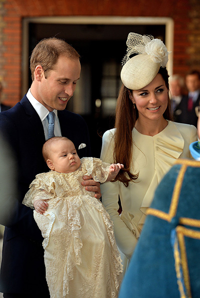 3-month-old Prince George is christened at Chapel Royal in St. James&#39; Palace in London. <span class=meta>(John Stillwell &#47; AP)</span>