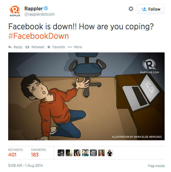 "<div class=""meta ""><span class=""caption-text "">When Facebook goes down, Twitter reacts (Rapplerdotcom / Twitter)</span></div>"