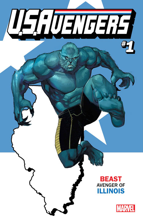 <div class='meta'><div class='origin-logo' data-origin='none'></div><span class='caption-text' data-credit='Marvel'>For the launch of this all-new series, U.S. Avengers #1 will feature over 50 unique variants assigning one Avenger to that state.</span></div>