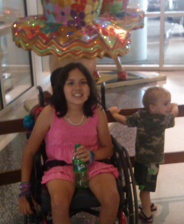 Ali in her wheelchair. <span class=meta>(Princess Ali&#39;s Journey with NBIA &#47; Facebook)</span>