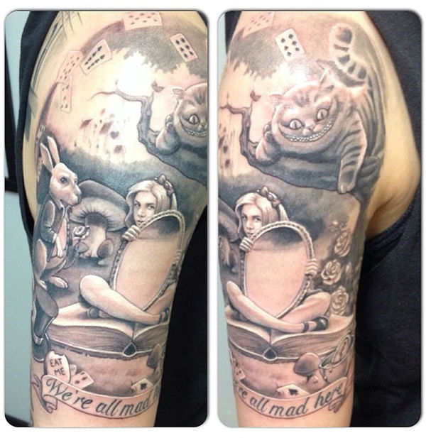 Alice in Wonderland <span class=meta>(chuyespinozatattoos &#47; Instagram)</span>