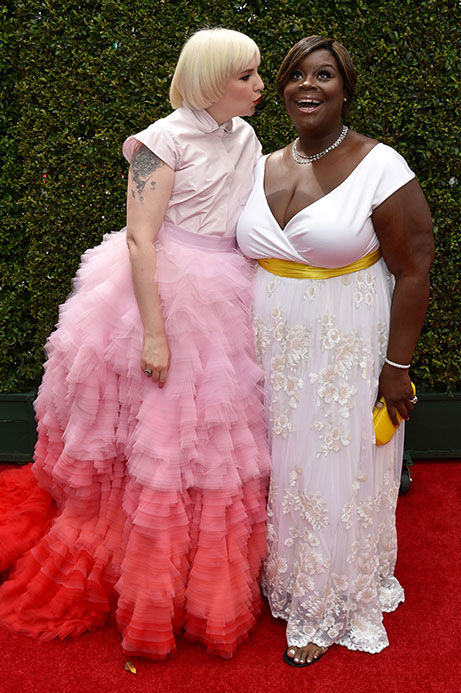 Lena Dunham and Retta <span class=meta>(John Shearer&#47;Invision for the Television Academy&#47;AP Images)</span>