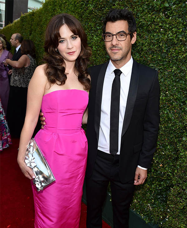 Zooey Deschanel and Jacob Pechenik <span class=meta>(John Shearer&#47;Invision for the Television Academy&#47;AP Images)</span>