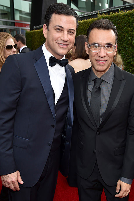 "<div class=""meta image-caption""><div class=""origin-logo origin-image ""><span></span></div><span class=""caption-text"">Jimmy Kimmel and Fred Armisen. (John Shearer/Invision for the Television Academy/AP Images)</span></div>"