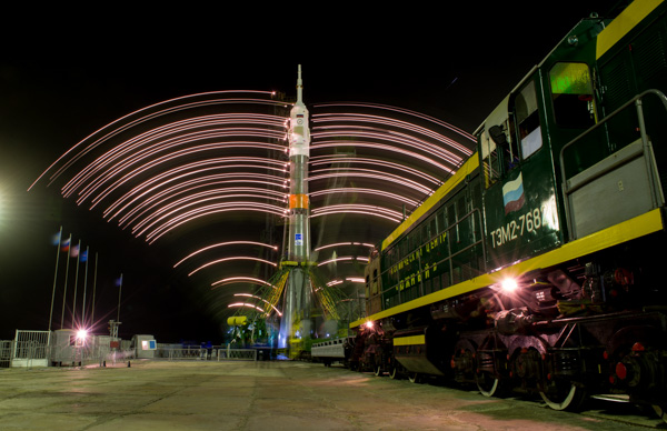"<div class=""meta image-caption""><div class=""origin-logo origin-image none""><span>none</span></div><span class=""caption-text"">The gantry arms close around the Soyuz TMA-20M spacecraft to secure the rocket on Wednesday, March 16, 2016 at launch pad 1 at the Baikonur Cosmodrome in Kazakhstan. (NASA/Aubrey Gemignani)</span></div>"