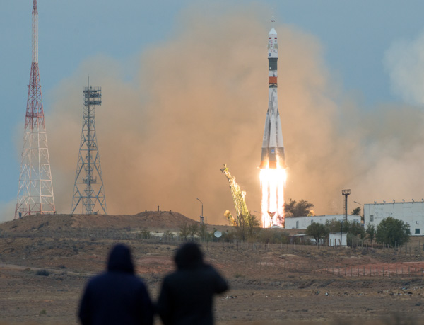 "<div class=""meta image-caption""><div class=""origin-logo origin-image none""><span>none</span></div><span class=""caption-text"">The Soyuz MS-02 rocket is launchedWednesday, Oct. 19, 2016 at the Baikonur Cosmodrome in Kazakhstan. (NASA/Joel Kowsky)</span></div>"