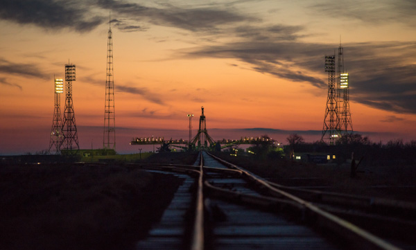 "<div class=""meta image-caption""><div class=""origin-logo origin-image none""><span>none</span></div><span class=""caption-text"">The Soyuz launch pad is seen ahead of the Soyuz rocket being rolled out by train at the Baikonur Cosmodrome, Kazakhstan, Monday, Nov. 14, 2016. (NASA/Bill Ingalls)</span></div>"