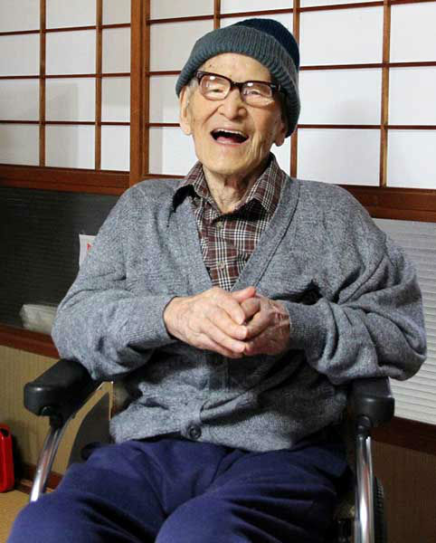 Jiroemon Kimura, once the world&#39;s oldest living man, according to Guinness World Records, died of natural causes Wednesday, June 12, 2013 at 116 <span class=meta>(AP Photo&#47; Uncredited)</span>