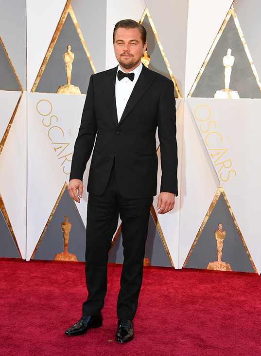 <div class='meta'><div class='origin-logo' data-origin='AP'></div><span class='caption-text' data-credit='Jordan Strauss/Invision/AP'>Leonardo DiCaprio arrives at the Oscars on Sunday, Feb. 28, 2016, at the Dolby Theatre in Los Angeles.</span></div>