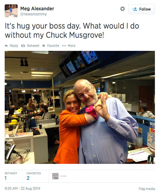 "<div class=""meta ""><span class=""caption-text "">Twitter users celebrate the chance to hug it out with their bosses today. (newsmommy/Twitter)</span></div>"