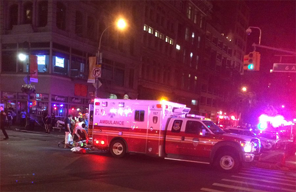 <div class='meta'><div class='origin-logo' data-origin='none'></div><span class='caption-text' data-credit='Twitter/@TimTeeman'>FDNY on the scene in Manhattan, New York.</span></div>