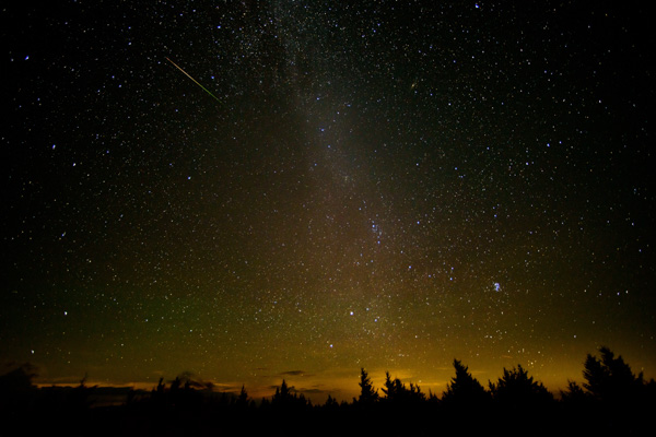 "<div class=""meta image-caption""><div class=""origin-logo origin-image none""><span>none</span></div><span class=""caption-text"">In this 30 second exposure, a meteor streaks across the sky during the annual Perseid meteor shower Friday, Aug. 12, 2016 in Spruce Knob, West Virginia. (NASA/Bill Ingalls)</span></div>"