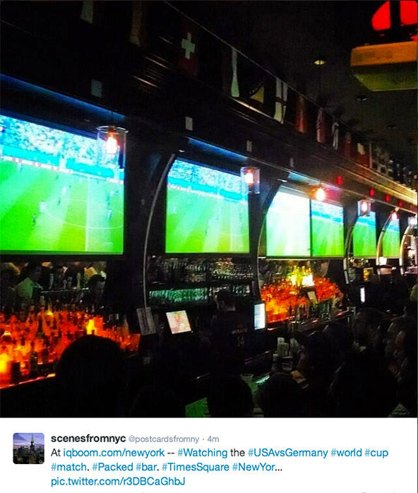 People skip work to watch World Cup game at their local sports bar. <span class=meta>(&#47; Twitter)</span>