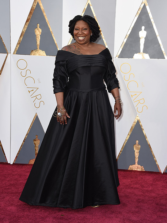 <div class='meta'><div class='origin-logo' data-origin='AP'></div><span class='caption-text' data-credit='Jordan Strauss/Invision/AP'>Whoopi Goldberg arrives at the Oscars on Sunday, Feb. 28, 2016, at the Dolby Theatre in Los Angeles.</span></div>