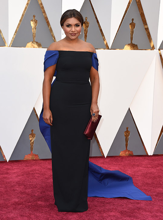 <div class='meta'><div class='origin-logo' data-origin='AP'></div><span class='caption-text' data-credit='Jordan Strauss/Invision/AP'>Mindy Kaling arrives at the Oscars on Sunday, Feb. 28, 2016, at the Dolby Theatre in Los Angeles.</span></div>